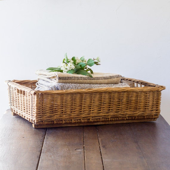 Large Antique French Tray Basket