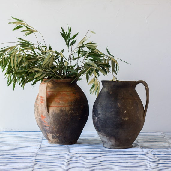 Antique Provençal Earthenware Water Jug