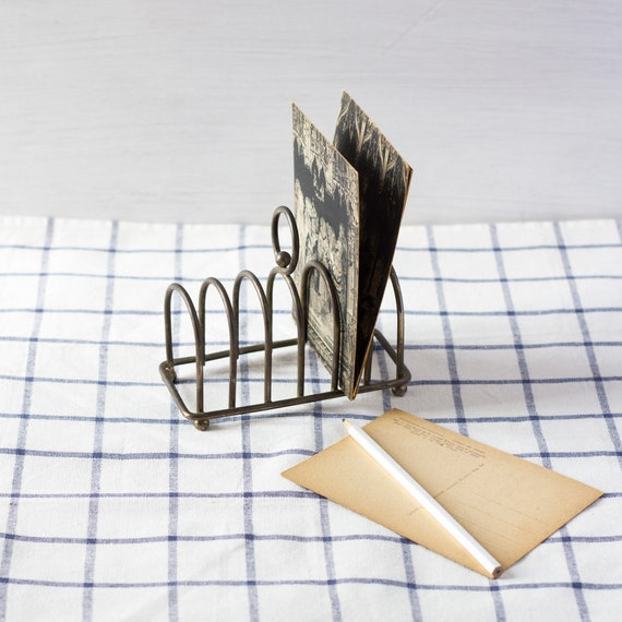 RESERVED Vintage French Mail Holder / Toast Holder