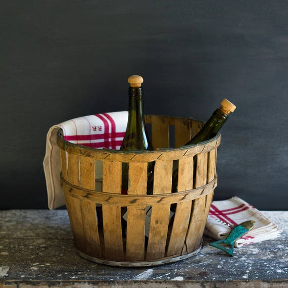 Rustic French Demijohn Basket