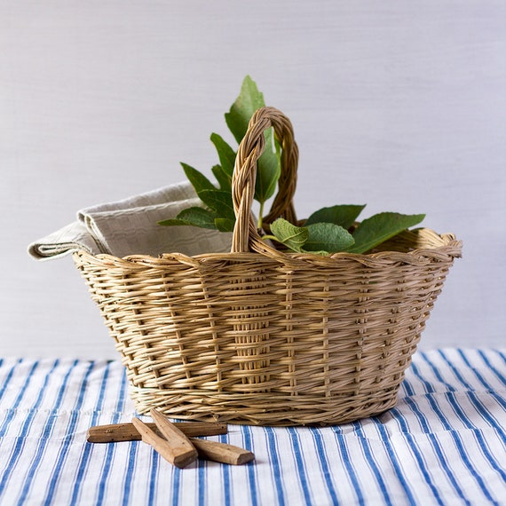Rustic French Handled Harvest Basket