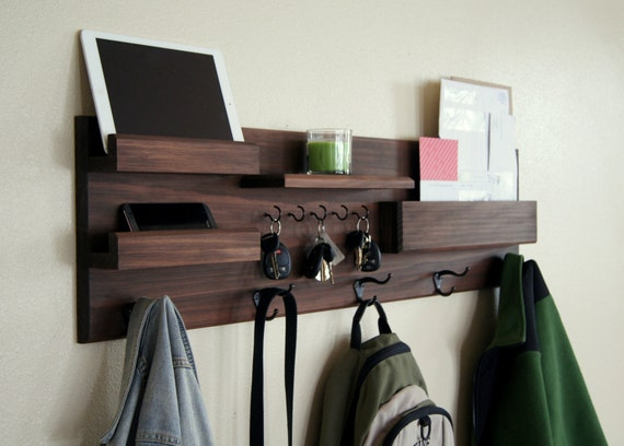 image 0 & Entryway Organizer Coat Rack Handmade Home Decor Farmhouse | Etsy