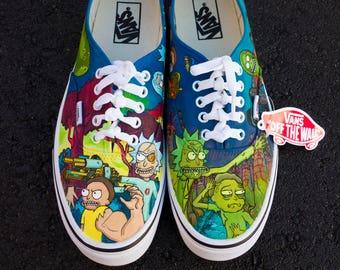 d25acf23514 Rick   Morty Season 3 Custom Handpainted Shoes for Nonierich