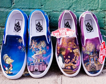 d665379aaae Disney Matching Castle Handpainted VANS