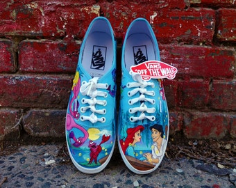 Disney The Little Mermaid Kiss the Girl Custom Painted VANS for Brittany 2e1b11d02