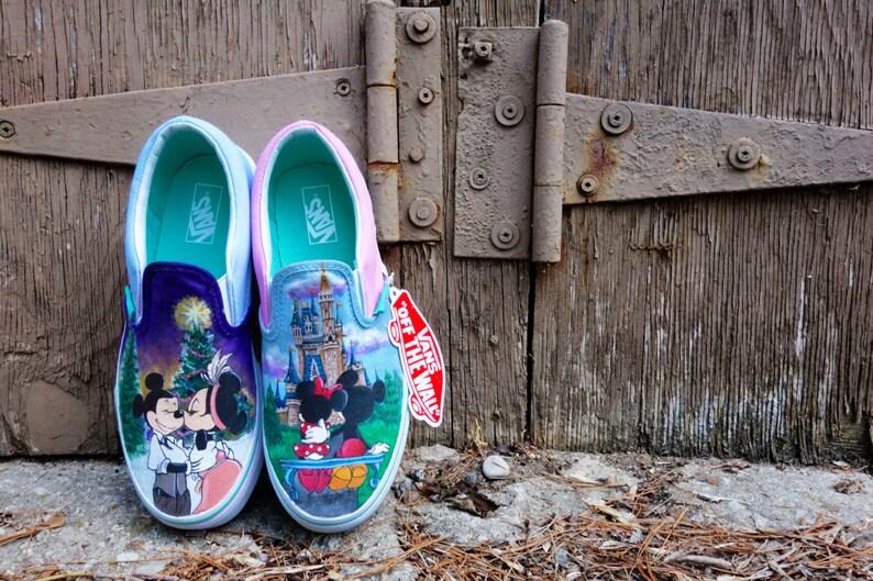 93ed5151b4dad Disney Mickey and Minnie Custom Painted VANS for Alexandra
