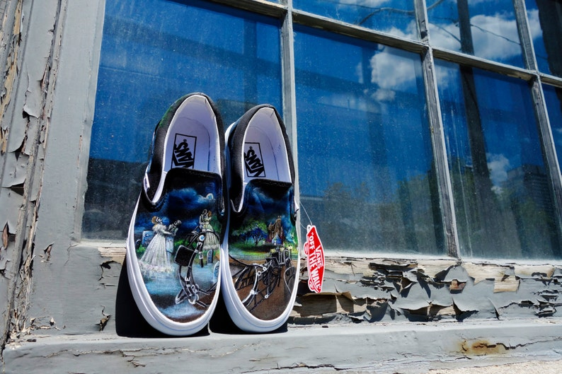 c88049d35b2be Disney Haunted Mansion Custom Handpainted Shoes for Denise
