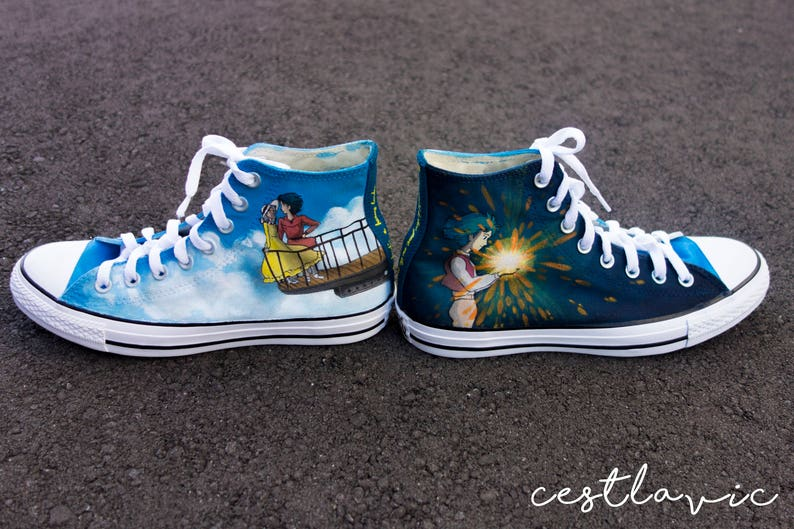 Howl s Moving Castle Custom Handpainted Shoes for Katie  47039ac3254f