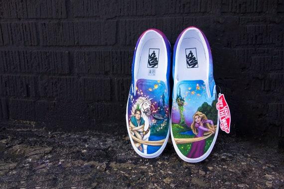 6df2b3a7964 Disney Tangled Custom Handpainted Shoes for Hannah