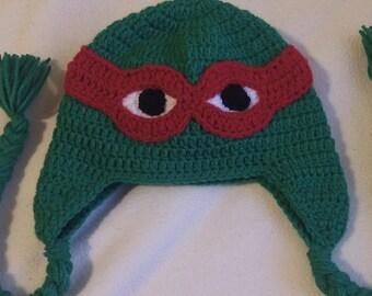 Handmade Crochet Ninja Turtle Hat