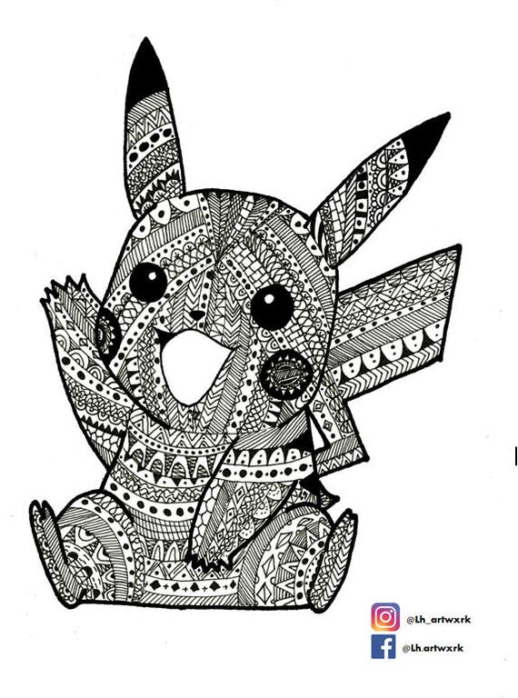 items similar to aztec mandala pikachu
