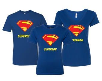 4e181d1a5ae7f Family Custom Inspired Shirt Superdad, Supermom, Superson