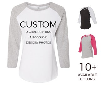 e69299b6 Adult Womens Custom Raglan Baseball Shirt, Personalize & Design Your Own  Raglan Shirt - Custom Tees - 365Customize