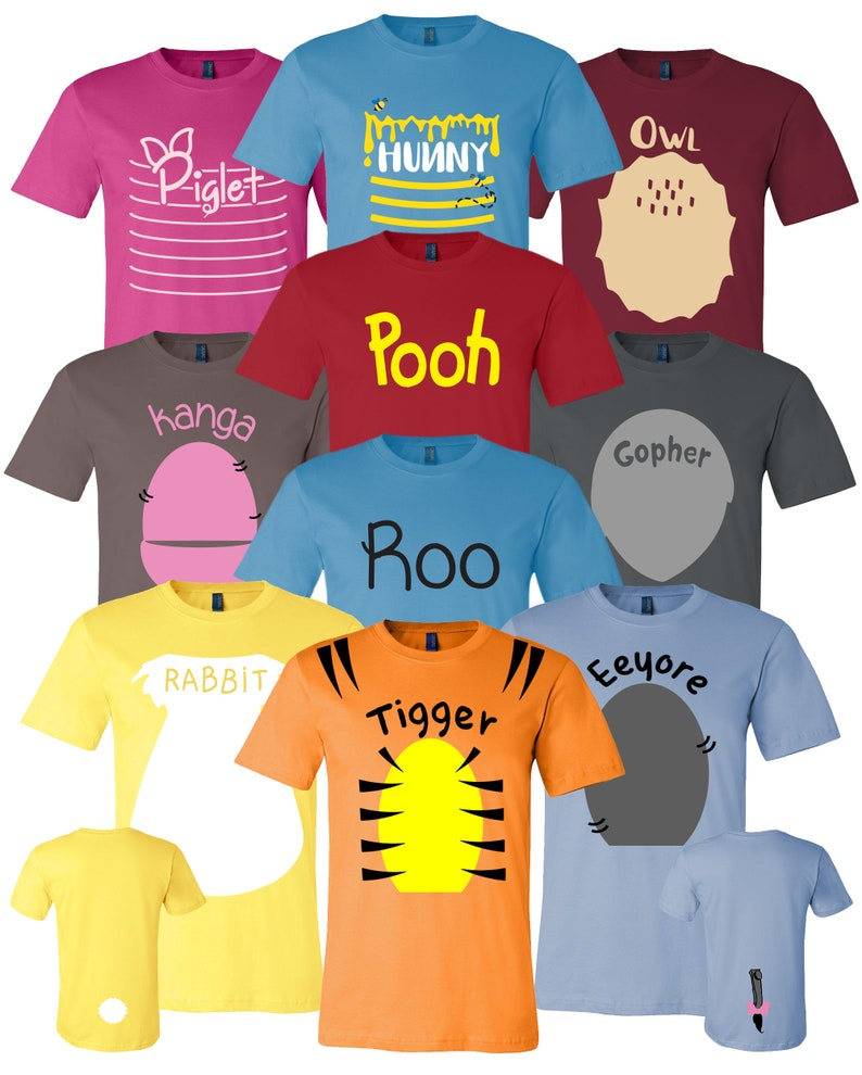 cba88dcbcb2 Pooh   Friends Inspired Adult Youth Toddler Shirt