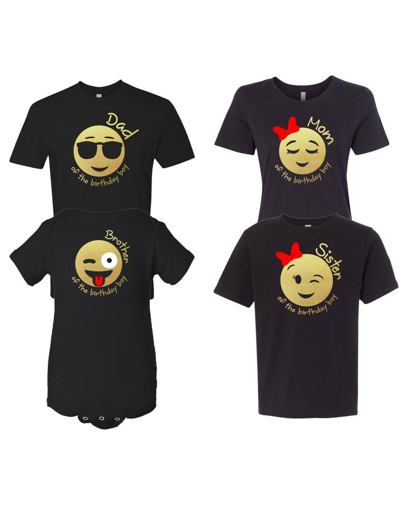 Emoji Birthday Boy Inspired Shirt For The Family DadMomSisterBrother DadMomSister