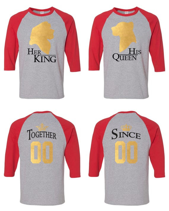 Her King His Queen Lion King Inspired Matching Couple Straight Fit Unisex Raglan Tee l His and Hers 8iMOjwLis