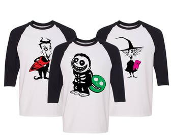 Her Jack His Sally Matching Couple Straight Fit Unisex Raglan Tee l His and Hers WMw2xPO