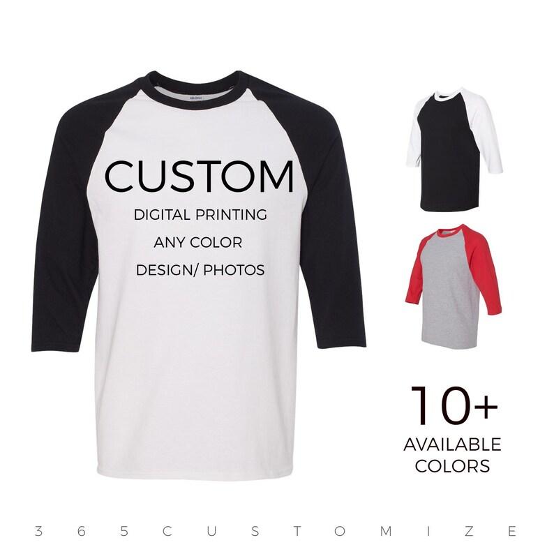 5fb36b0ac Adult Unisex Custom Raglan Baseball Shirt Personalize & | Etsy