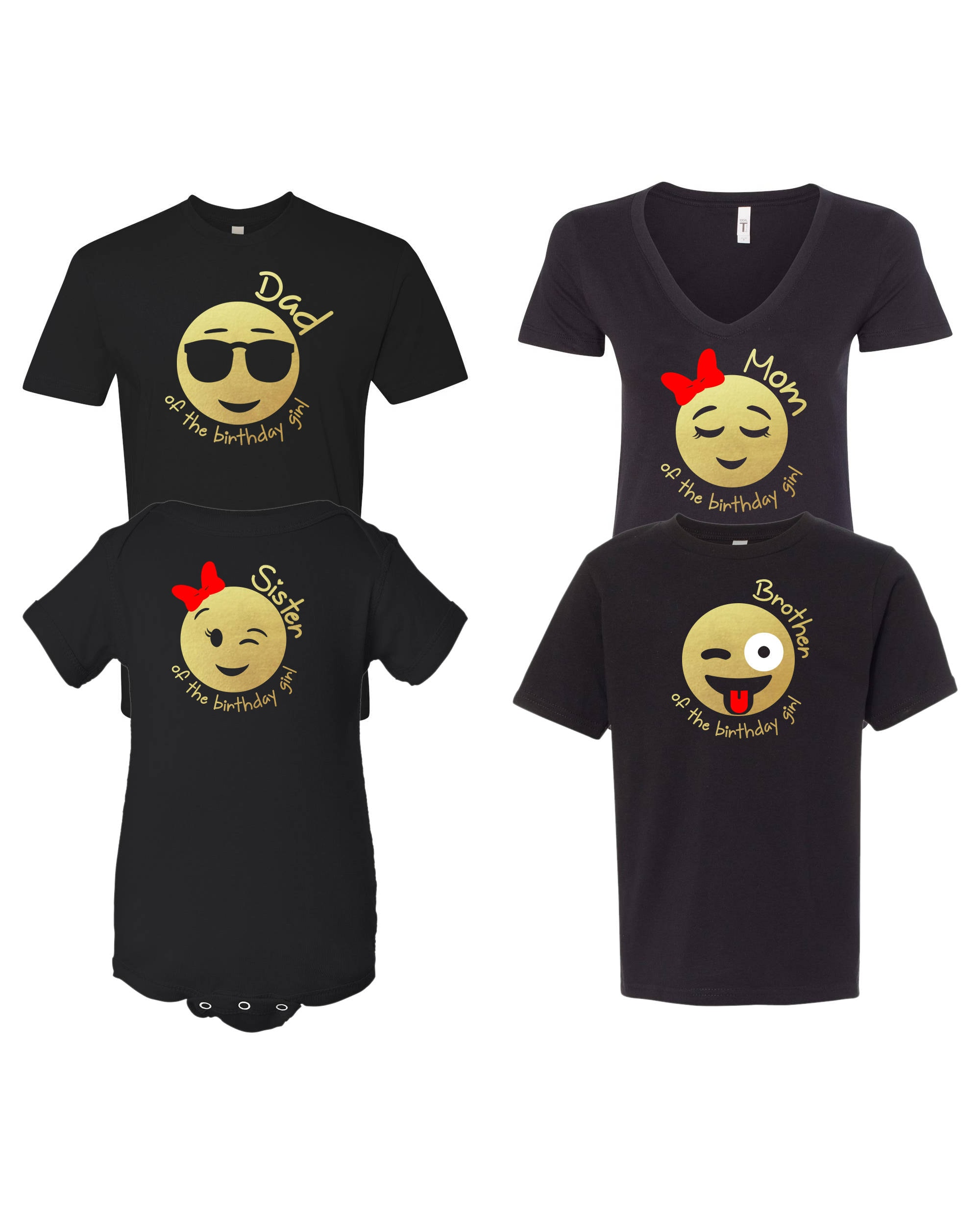 Emoji Birthday Girl Inspired Shirt For The Family