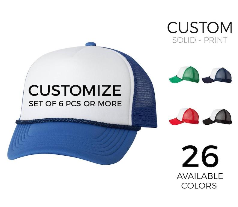 4c9161f353af9 Custom Trucker 2 Tones Hats Solid Color Print Additional