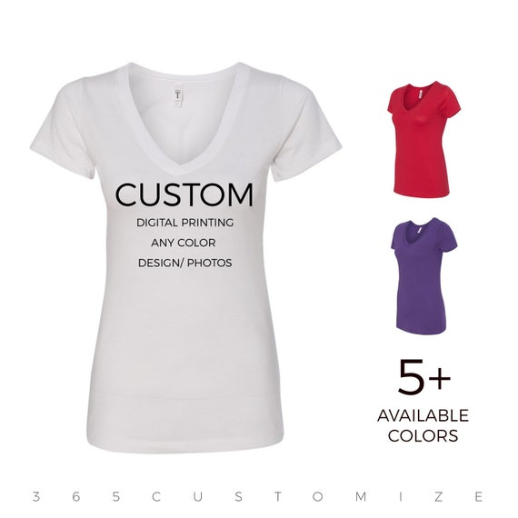 Blank Women's V Neck Tech Shirt (Various Colors)