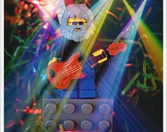Grateful Dead Ornament Jerry Garcia JGB Magnet CUSTOM made of lego bricks Dead and Company DSO Bob Weir not a pin shirt sticker