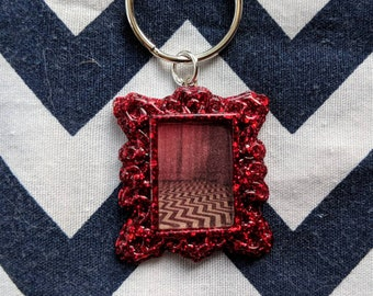 The Black Lodge Framed Keychain - Twin Peaks Inspired