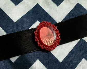The Black Lodge Ribbon Choker - Twin Peaks Inspired