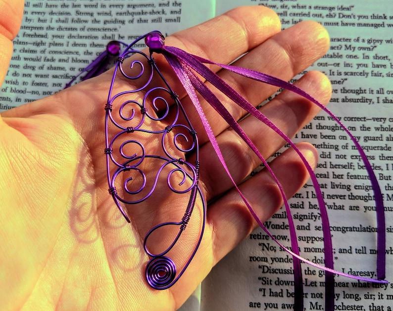 Copper Wire Purple Streamer Child Sized Elf Ears