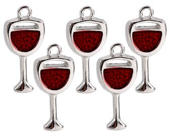 BULK 10 or 20pc Pkgs Wine Glass Charms - Tropical Coctail Charms - Drink Charms - Wine Glass Bracelet Charms (SP22339)