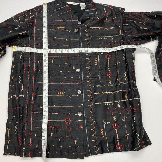 Vintage 90s Laura Ashley Embroidered Jacket Sz S … - image 4