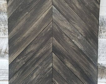 Chevron Rustic Wood Plank Parisian Dark Gray Brown Espresso Parquet Wallpaper 2540 24008