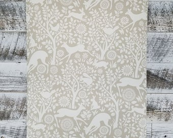 Brewster Anahi Neutral Tan Woodland Fauna Animal Wallpaper HAS01236