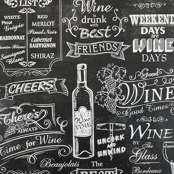Norwall Black And White Chalkboard Wine Wallpaper Modern Contemporary Ck36631
