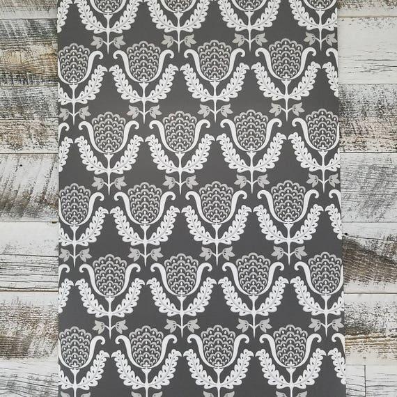 York Wallcoverings GP5919 Waverly One Wish Wallpaper Charcoal Blacks