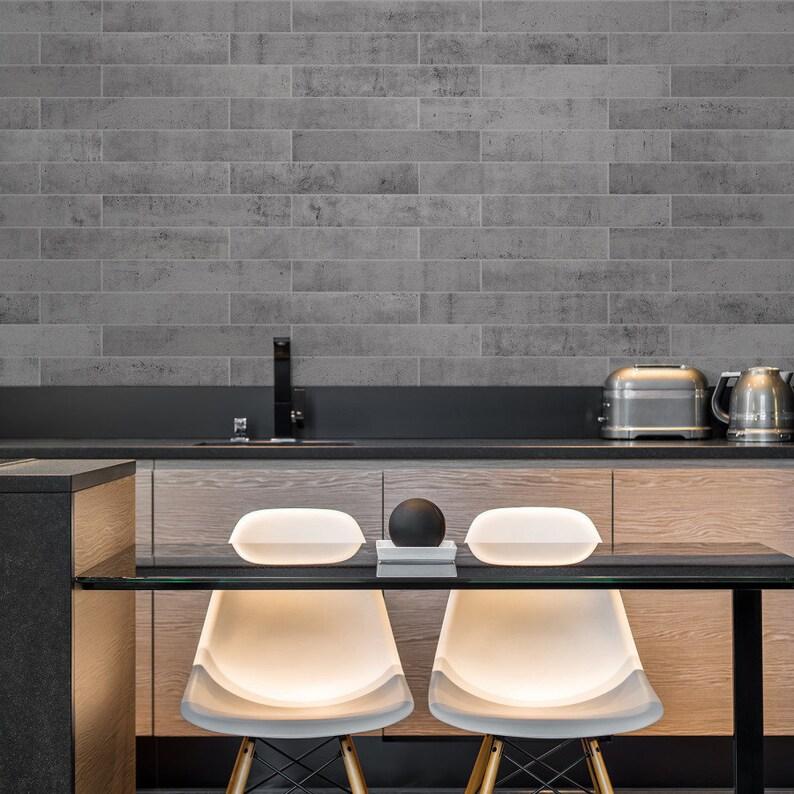 Miraculous Smart Tiles Norway Voss Concrete Stone Peel And Stick Backsplash Tile Farmhouse Sm1148M Download Free Architecture Designs Rallybritishbridgeorg