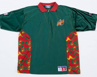 vintage 90s Seattle Sonics Shoot Around Warm-Up Jersey Shirt - Champion NBA  Basketball Supersonics - XL - Mens 90 s 1990 s 1990s Men s Sport 28d5fab61