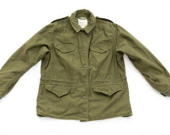794c55c18fe vintage 1970 s woman s military field coat   jacket - women s 1970s 70s  70 s army USA womens clothing clothes - green