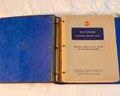 Vintage RCA Victor Service Data Sheets - TV, Radio, Record Player Sheet Index - Electronics Manual Manuals - Repair Guide Guides 50s 50 39 s