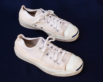 a84edc78d242 Vintage Converse Jack Purcell Shoes - Made in USA 80s 90s Bumpers Sneakers  Cons - Size 5 - 1980s 1990s 80 s 90 s Footwear