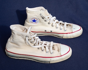 be57a34cda9 Vintage Converse Chuck Taylor All Stars - Shoes - Cons - Chucks - All Star  Made in USA - Hi Tops High Tops - Canvas Footwear - 80s   90s
