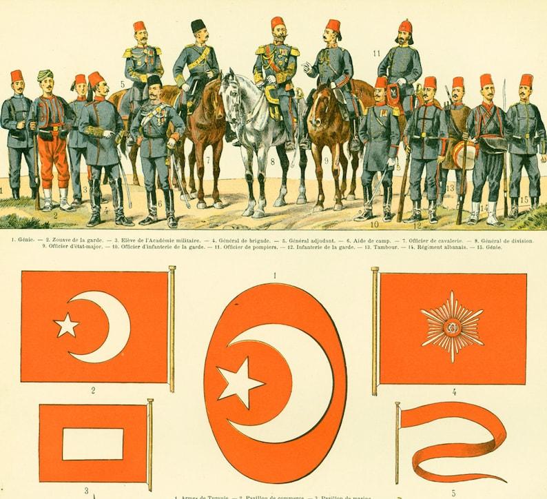 09da4f712e3 1897 Ottoman Empire Uniforms Flags Turkey Turkish Army