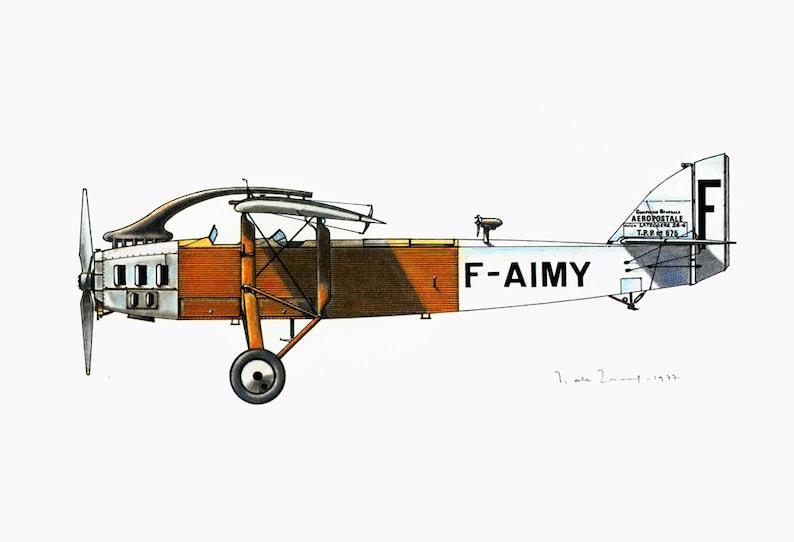 1970 Vintage Airplane Print  Antique Aircraft illustration  Aviation Wall  Art  Historical Flying Flight