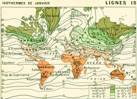 1897 climate antique world map large size larousse print gumiabroncs Gallery