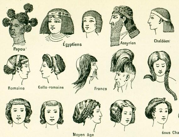 1897 Frisuren Haare Frisur Mode Original Platte Larousse Etsy