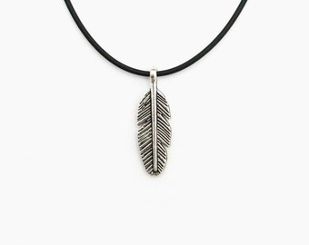 Feather necklace, boho choker