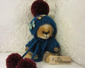 Bear Denis- artist bear, teddy bear, OOAK, collectible, mohair bear