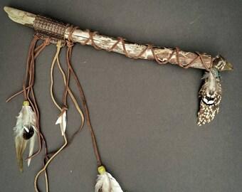 REIKI Wand with bird /Turkey  magick
