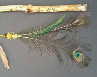 OSHUN REIKI Wand with Peacock magick