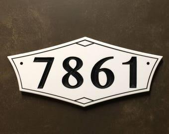 Mid Century Modern Address Sign